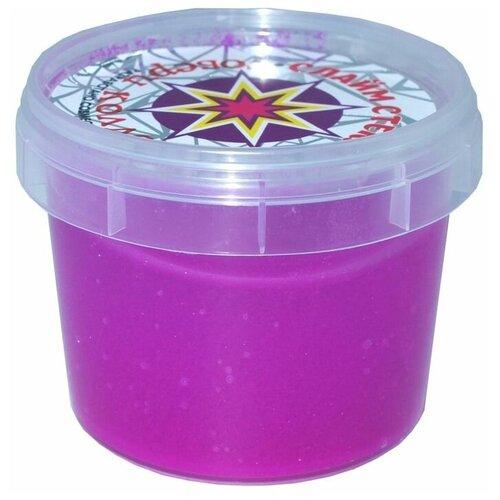 Слайм Стекло серия Party Slime, 100 гр, фиолетовый неон, Слайм Стекло