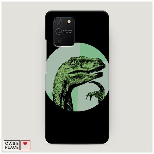 Чехол Пластиковый Samsung Galaxy A91 Мем задумчивый динозавр