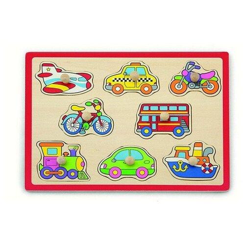Фото - VIGA Пазл-вкладыш Транспорт 8 деталей в пленке пазл для малышей viga транспорт 7 деталей звук