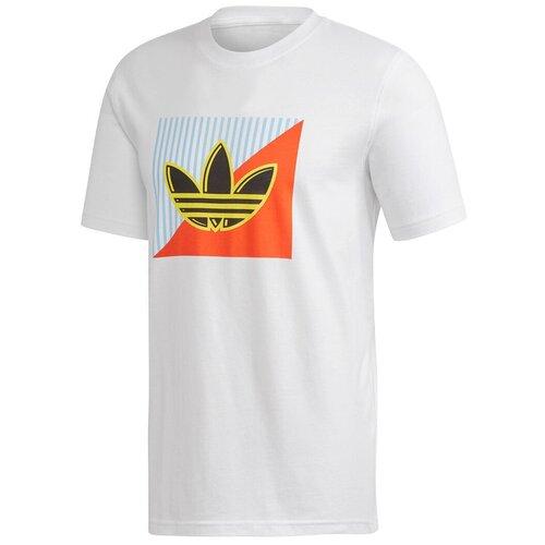 Футболка adidas Diagonal Logo Tee размер m, белый