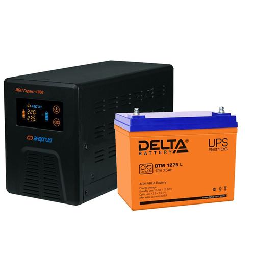 Комплект ИБП + АКБ для котла и циркуляционного насоса (Энергия+Delta 600ВА/75А*ч)