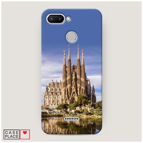 Чехол Пластиковый Xiaomi Redmi 6 Храм святого семейства в Барселоне 1