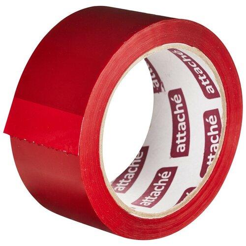 Фото - Клейкая лента упаковочная ATTACHE 48мм х 66м 45мкм красный 2 шт. клейкая лента коричневая unibob 48мм 66м 45мкм 6 шт в упаковке