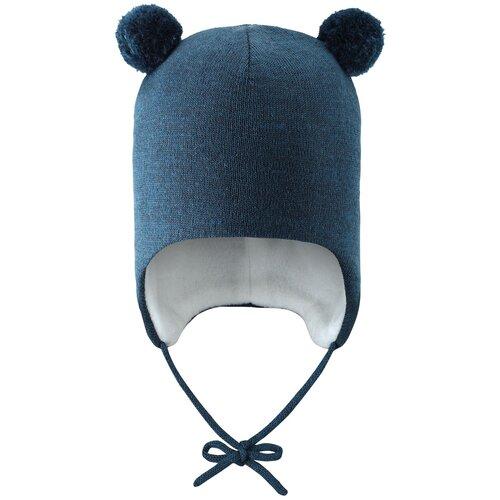 Шапка бини Lassie Nanetta размер 50, темно-синий шапка бини playtoday размер 50 темно синий