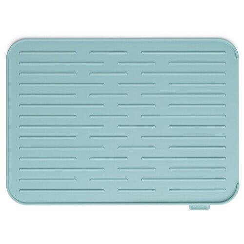 117480 Силиконовый коврик для сушки посуды, мятный
