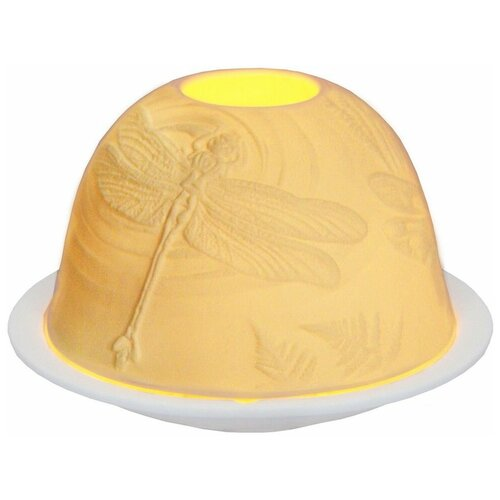Подсвечник для чайной свечи романтичные стрекозы, фарфор, 8х12 см, SHISHI 30655