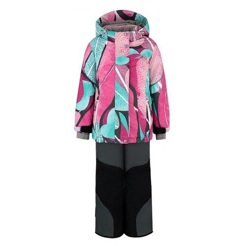Купить Комплект с брюками Oldos Лита AOAW21SU2T110 размер 104, бирюзовый/розовый, Комплекты верхней одежды