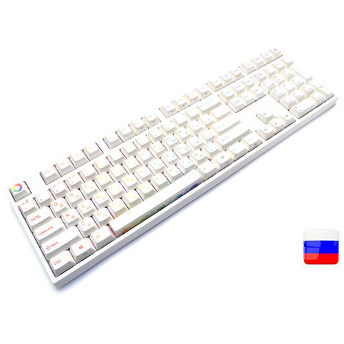 Профессиональная клавиатура Varmilo VA108M Double Rainbow RGB Cherry MX Speed Silver