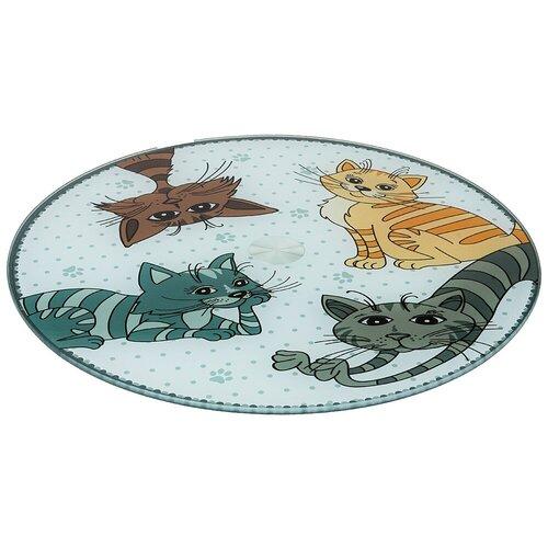 Фото - Тортовница Agness вращающаяся озорные коты d = 32 см h = 3 см (357-156) тортовница agness вращающаяся озорные коты d 32 см h 3 см 357 156