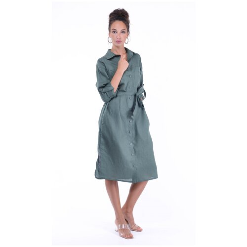 Фото - Женское платье из натурального льна Gabriela 5366-12 р.46 платье ichi 20109482 женское цвет фиолетовый 15518 winetasting однотонный р р 46 m
