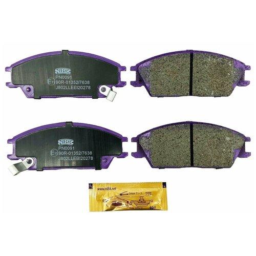 Дисковые тормозные колодки передние NIBK PN0091 для Hyundai Getz, Hyundai Accent, Hyundai Lantra (4 шт.)