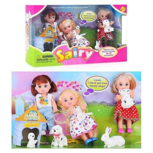 Набор кукол с аксессуарами, в коробке