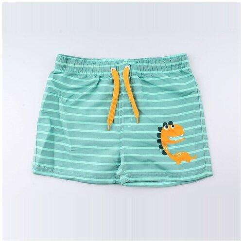 Купить Шорты для плавания КОТОФЕЙ размер 104-110, зелeный, Белье и пляжная мода