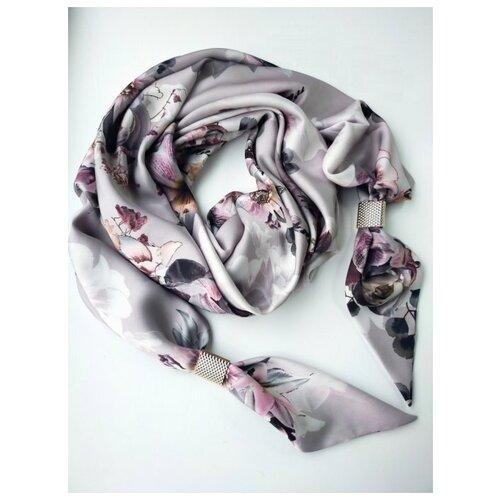 Палантин, Sergio Valentini, Французская косынка, цвет: Пыльная роза, Зеленый, 60 х 170 см