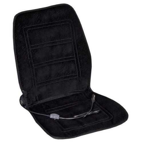 Подогрев сиденья со спинкой SKYWAY с терморегулятором (2 режима) Черный 12V 95х47см 2,5А-3А