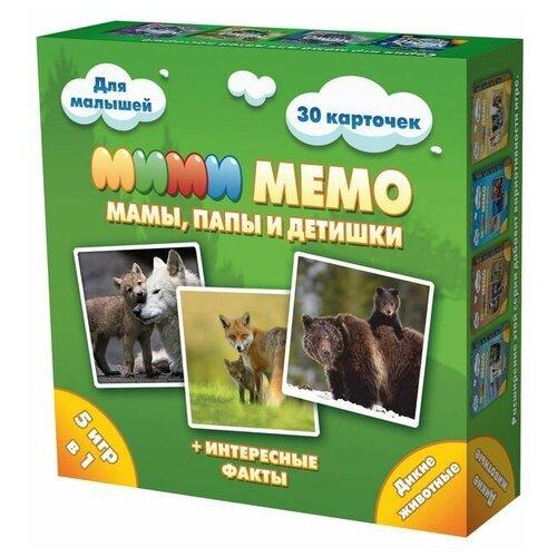 Купить Ми-Ми-Мемо «Дикие животные», Нескучные Игры, Нескучные игры, Настольные игры