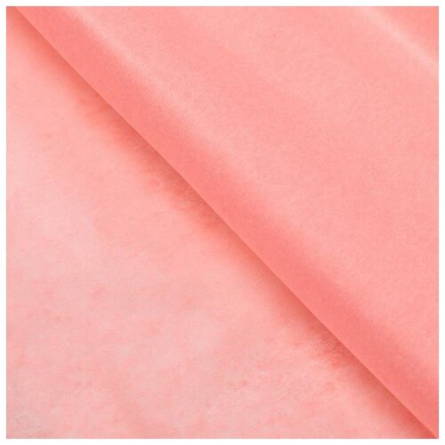Бумага упаковочная тишью, персиковый, 50 см х 66 см, набор 10 шт. 7059634