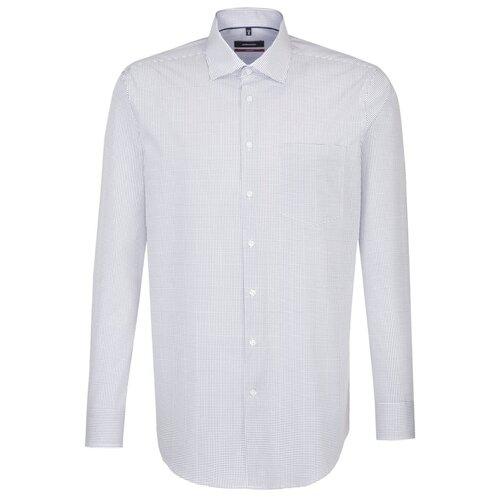 Рубашка Seidensticker размер 46 белый/синий