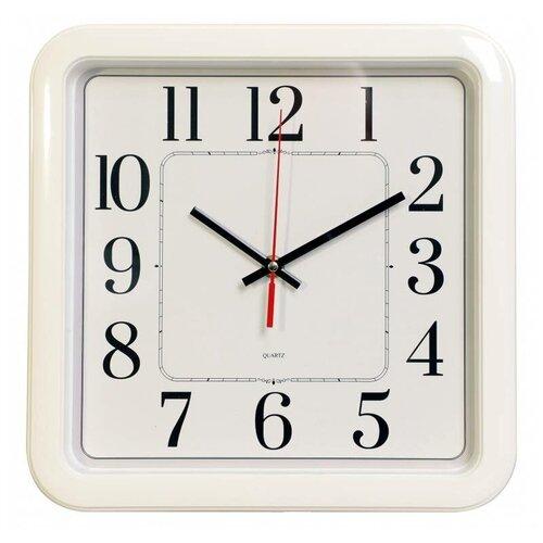Часы настенные аналоговые Бюрократ WallC-S79P, диаметр 29 см, белый