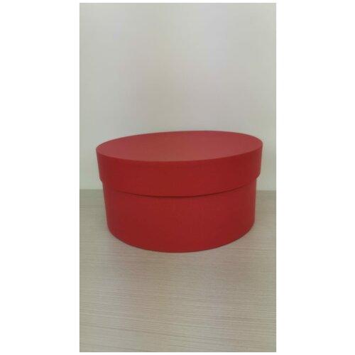 Коробка подарочная круглая 20 х 10 см, красная, для цветов и подарков. коробка фирменная для упаковки подарков с кофе 25 х 27 х 10 5 см