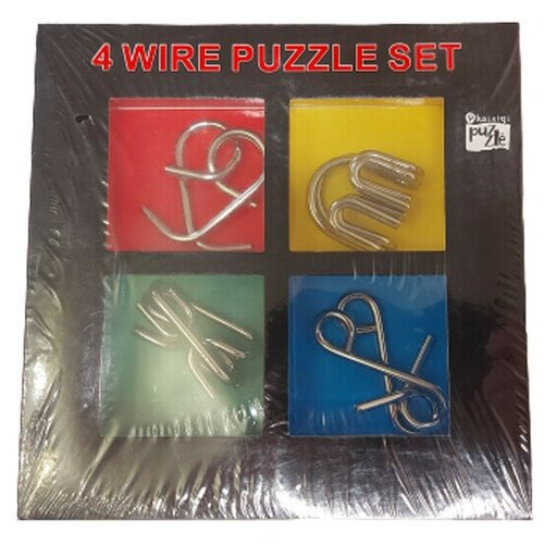 4 Metal Puzzles SET (головоломки металлические)
