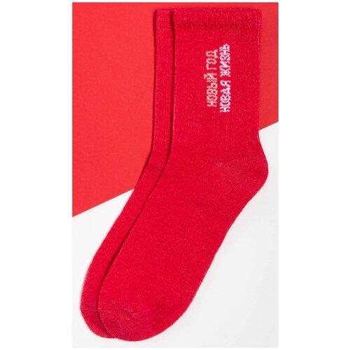Носки Kaftan Новая жизнь, размер 23-25 см (37-39), красный
