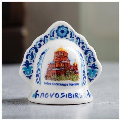 Колокольчик в виде кокошника «Новосибирск» (часовня Святого Николая), 5.5 х 5.5 см 3281459