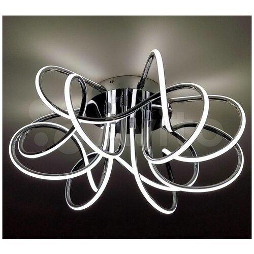 Фото - Потолочный светодиодный светильник - люстра с пультом LIANA MUSE 80W Хром, гостиная, до 25 кв.м. управляемый светодиодный светильник estares liana muse 80w r 600 chrome opal 220 ip20