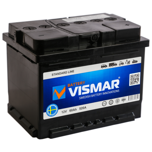 Аккумулятор автомобильный VISMAR ST 6СТ-60 N (R)-(0) 520А 242*175*190