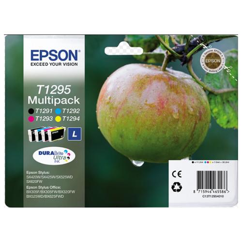 Фото - Картридж струйный Epson T1295 (4 цвета), black, cyan, magenta, yellow картридж струйный epson t04a4 c13t04a440 yellow
