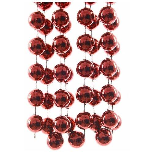 Бусы пластиковые гигант, цвет: бордовый, 20 мм, 2,7 м, Kaemingk 001712