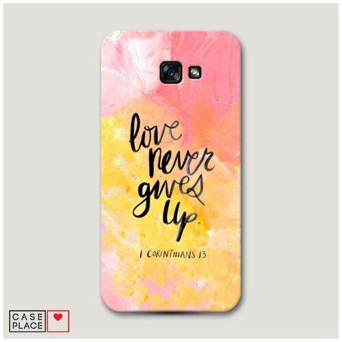 Чехол Пластиковый Samsung Galaxy A7 2017 Цитата на акриле