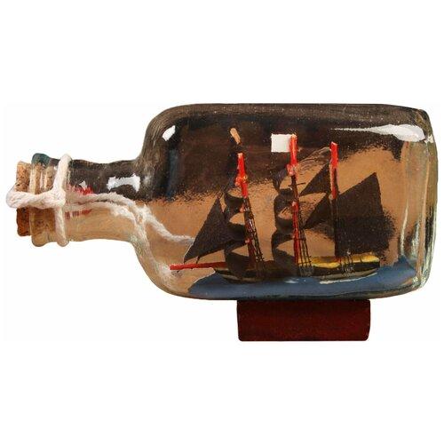 Корабль сувенирный, в бутылке, горизонт. 13*4*7см 5285445 по цене 425