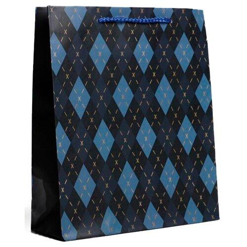 Фото - Пакет подарочный Доступные радости Клетка, 23 х 27 х 8 см синий/голубой пакет подарочный единорог на пончике а5 16 х 24 х 8 см