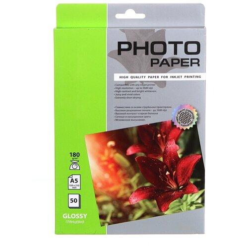Фото - Фотобумага Cactus A5 180g/m2 глянцевая 50 листов CS-GA518050 лента шлиф jet sl150 1220 180g 150 х 1220мм 180g для jsg 96 31а 31а