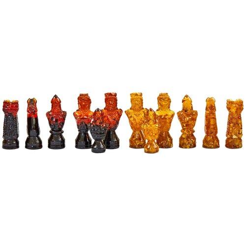 Amber-регион Шахматные фигуры из янтаря Сказочные