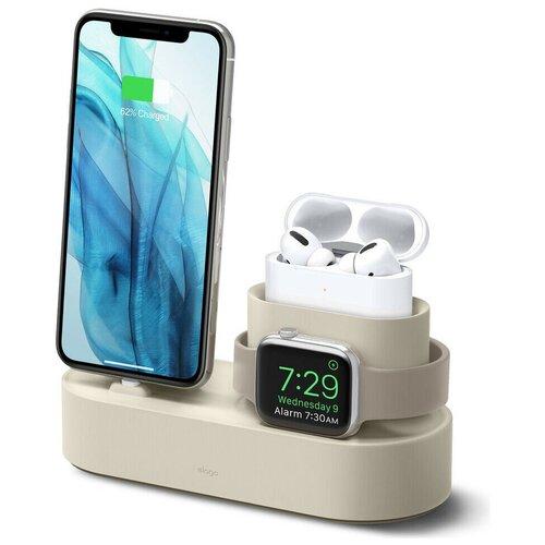 Док-станция Elago Charging hub 3 в 1 для AirPods Pro/iPhone/Apple Watch, цвет Белый (EST-TRIOPRO-CWH) EST-TRIOPRO-CWH