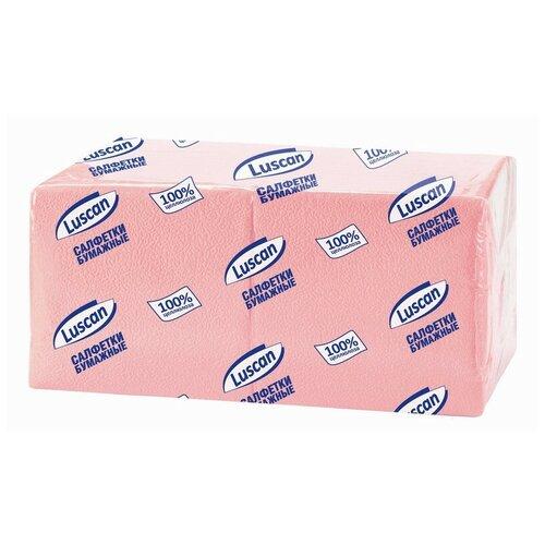 Купить Салфетки бумажные Luscan Profi Pack 1сл24х24 пастельрозовые 400 шт/уп 2 шт.