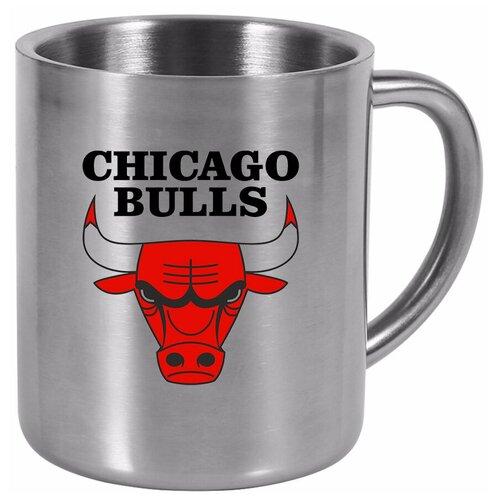 Металлическая кружка в подарок баскетболисту Chicago bulls