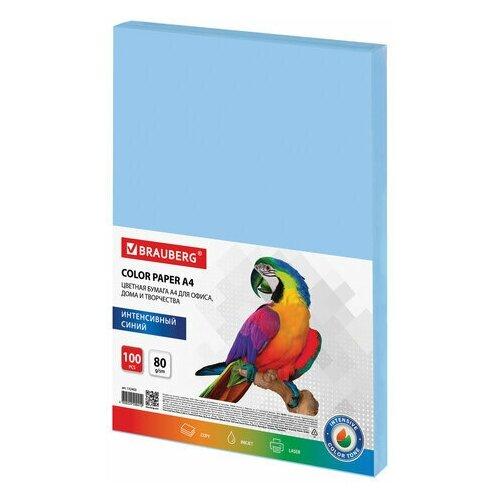 Фото - Бумага цветная BRAUBERG, А4, 80 г/м2, 100 л., интенсив, синяя, для офисной техники, 112453 водяной полотенцесушитель grota kamelo 50 80