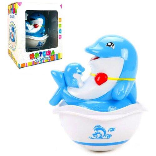 Детская развивающая музыкальная игрушка для малышей Неваляшка дельфин