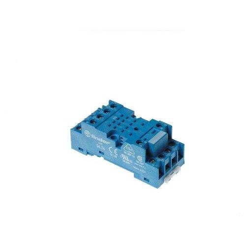 Розетка с винтовыми клеммами (под шайбу) для реле 55.32; 55.34 таймера 85.02; 85.04; модули 99.01; в компл. метал. клипса 094.71 син. FINDER 94749SMA
