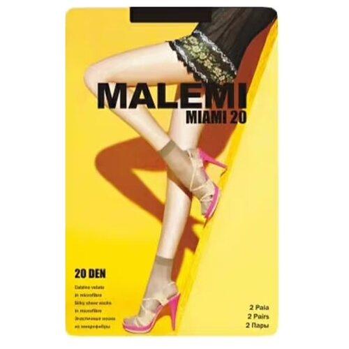 Капроновые носки Malemi Miami 20, 2 пары, размер ONE SIZE, nero