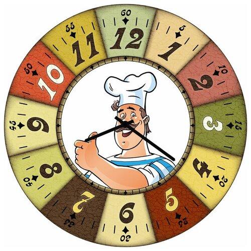 SvS Настенные часы SvS 3502324 Довольный повар