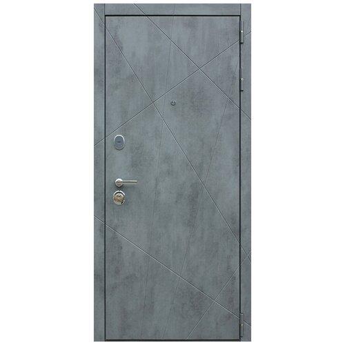Дверь входная Дуэт Б (белая) стальная в квартиру