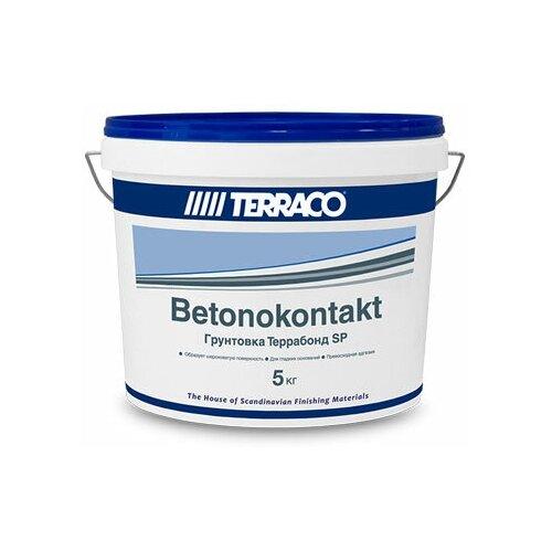 TERRACO TERRABOND SP грунт бетоноконтакт для гладких поверхностей, белый (5кг)