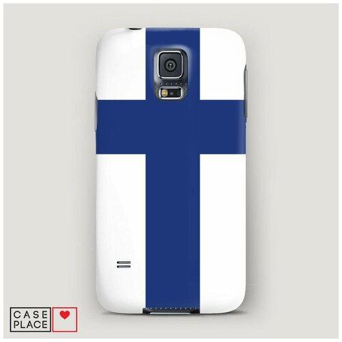 Чехол Пластиковый Samsung Galaxy S5 Флаг Финляндии 1