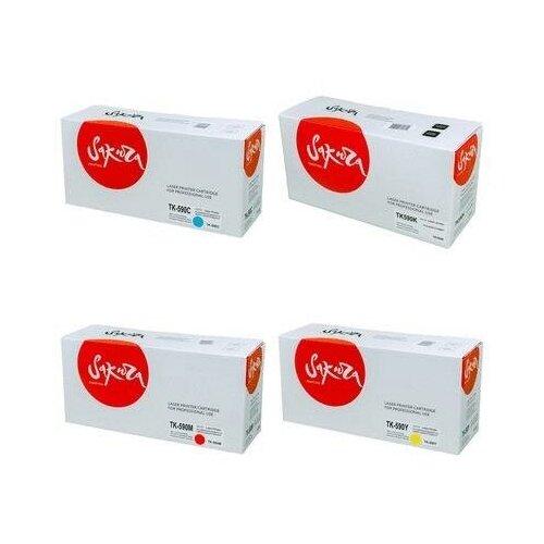 Sakura SATK590Y-SATK590M-SATK590C-SATK590K Картриджи комплектом TK-590Y, TK-590M, TK-590C, TK-590K полный набор совместимый CMYK:5K, BK:7K стр. [выгода 3%] для Ecosys M6026, M6526, P6026, FS-C2026, FS-C2126, FS-C2526, FS-C2626, FS-C5250