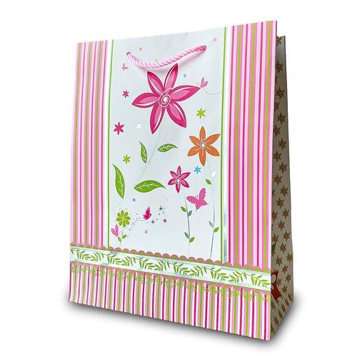Фото - Пакет подарочный матовый большой, с тиснением 32*26*12 см Розовый пакет подарочный круги y6 2488 i k с тиснением 32х26х12 см