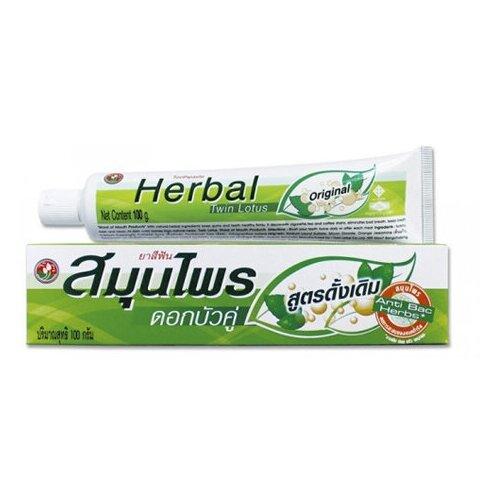 Зубная паста Twin Lotus с травами оригинальная, 40 г мыло кусковое twin lotus с травами и мангустином антибактериальное 85 г
